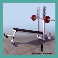 3ds max declined press bench pectoral