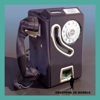 public coin vintage phone 3d model