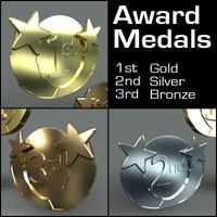 place medals 3d model