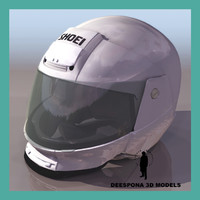 shoei motorcycle helmet 3d model