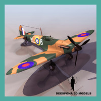 3ds max supermarine spitfire mk british