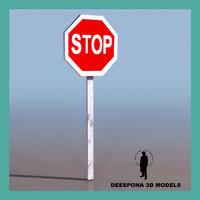 3d model stop signal