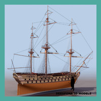 3d model le superbe french ship