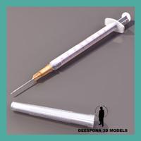 3d model polypropilene sterile syringe
