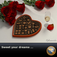 candy roses chocolate 3d model