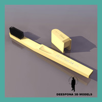 3d tooth brush travelling model