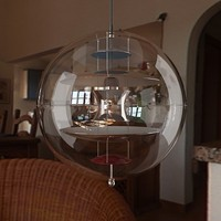verner panton globe lamp 3d model
