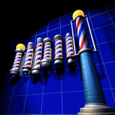 Animated Barber Pole 3d barber poles 01 mod...