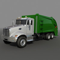 Garbage truck rear loader