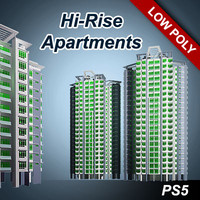 3d hi-rise apartment