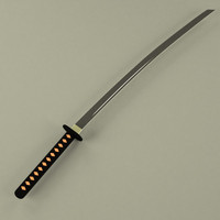 3ds max katana asian weapon