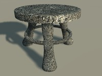 3d milking stool model