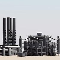 industrial 6 3d model