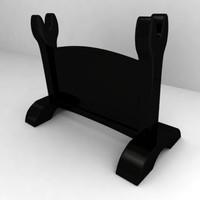 3d model katana stand