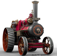 3d model steam traction
