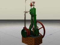 3d vertical steam engine