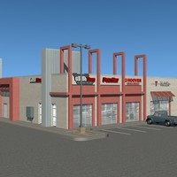 commercial structure 3d 3ds