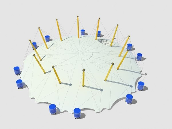 millennium dome 3d model - Millennium Dome... by 3d_addict
