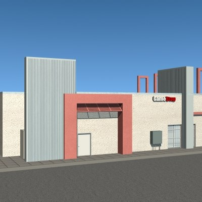 commercial structure 3d 3ds - Commercial Structure... by mostlysquare