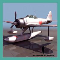 a6m2 n type2 rufe 3d model
