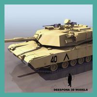 3d m1a1 abrams tank model