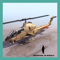 3d model of attack helicopter pandorabox