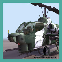 AH1W US ATTACK HELICOPTER