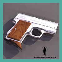 3d model amt automatic handgun