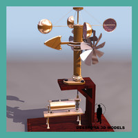 3d model anemometer xix c apparatus