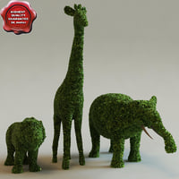 Bushes in the form of animals