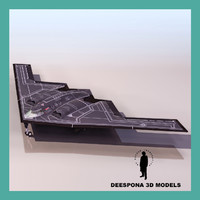 b2 strategic bomber 3d model