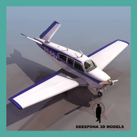 3ds max beechcraft bonanza private light