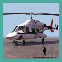 222 private helicopter police 3d max