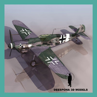 3d model messerschmitt bf 109 g