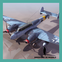 messerschmitt bf -me 110 3d model