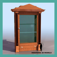 biedermeier display cabinet 3d model