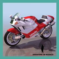 bimota sport racing motorcycle 3d max