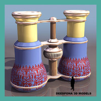 theater vintage binoculars 3d model