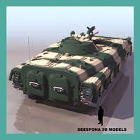 1 russian soviet tank 3d model