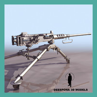3d heavy machinegun browning cal model