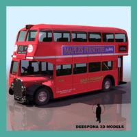 bus aec london public 3d model