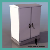 3ds max electric box cabinet