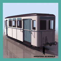 3d max carrage train metro wagon