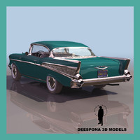 chevrolet 1957 chevy sport coupe 3d model