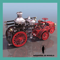 THE CHRISTIE 1900  FIREFIGHTER VINTAGE STEAM TRUCK TRACTOR