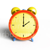 3d cartoon clock model