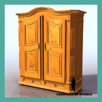 constanza armoire european country 3d max
