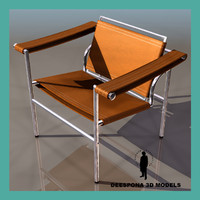 3ds max chair le corbusier