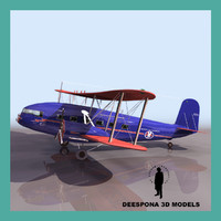 3d curtiss passenger comercial airliner