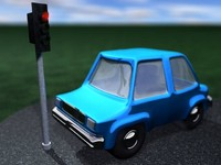 3ds cartoon car